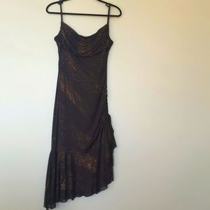Laura Womens Size 10 Brown Dress with Copper Shine